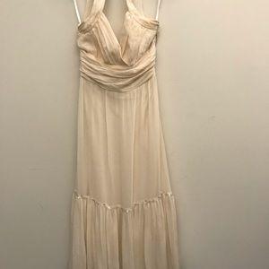 BCBG Max Azria size 4 white silk dress